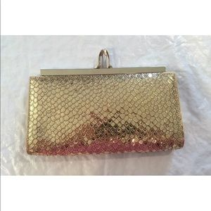 NEW**Archive**Christian Louboutin Gold Clutch
